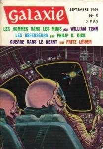 """Galaxie No 5, septembre 1964, """"Les défenseurs"""" philip k dick"""