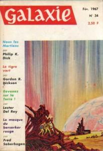 """Galaxie No 34, février 1967, """"Nous les martiens"""" (troisième partie) philip k dick"""